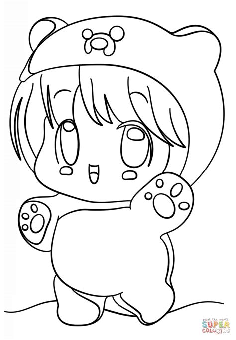 Coloring Page Kawaii by Kawaii Coloring Pages To And Print For Free