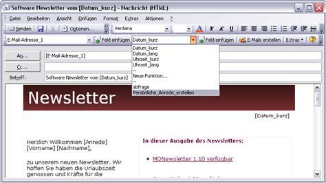 outlook newsletter erstellen mit bildern grafiken und newsletter software newsletter programm newsletter tool