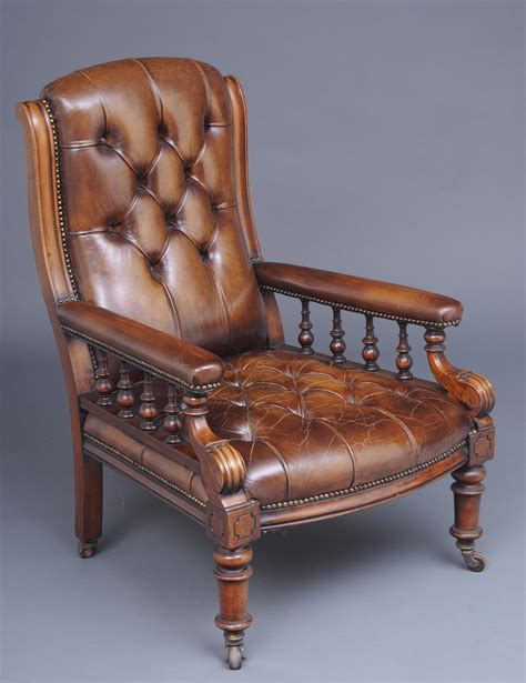 Armchair Tray Antique Library Chairs Antique English Mahogany Library