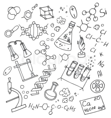 school of doodle sign up doodle vektor chemistry science background