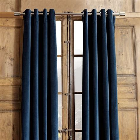 Contemporary Window Curtains Velvet Grommet Window Panel Modern Curtains By West Elm