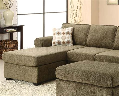 acme billan sectional living room set in green 50555 billan sectional sofa in tarragon fabric by acme