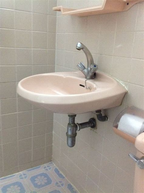 anatomy of a sink building tips pinterest sinks and close up of the pink wall mount sink in the bathroom from