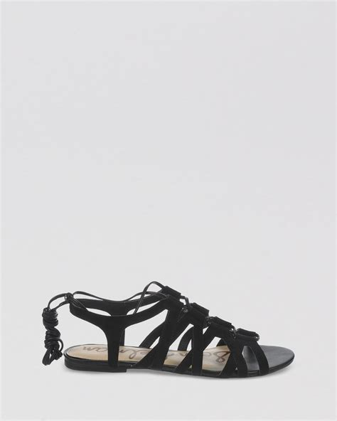 tie up flat sandals sam edelman open toe flat lace up gladiator sandals boyden