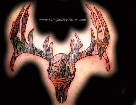 realtree tattoo real camo deer skull outdoors tattoos