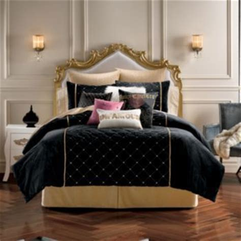 couture after hours comforter shams velour
