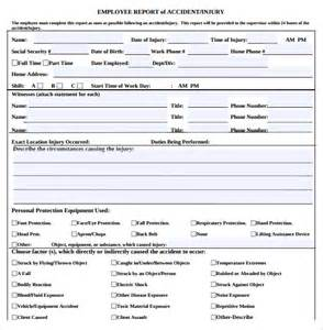 Simple Incident Report Sample Sample Employee Incident Report Template 10 Free