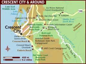 map of crescent city california map of crescent city
