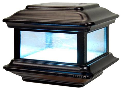 Solar Light Post Caps 6x6 Iron Blog Solar Lights For Deck Posts