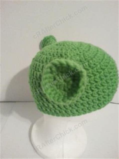 crochetpatteran for hat that looks like layers shrek ear costume beanie hat crochet pattern