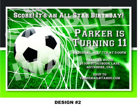 soccer party invitations template best template collection