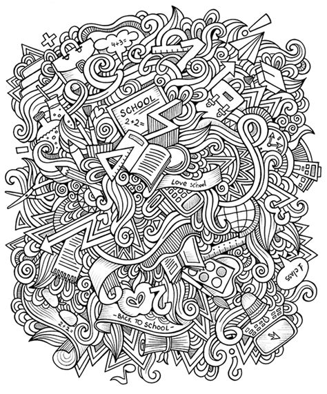 retro lives greyscale coloring book books school doodles on behance