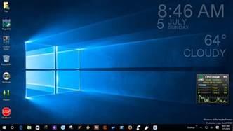 desk top gadgets s blogging again windows 10 desktop background two