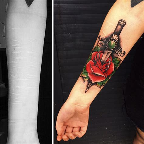 this woman wanted her tattoo to cover up her self harm