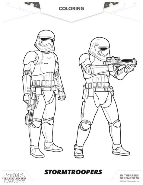 coloring pages wars awakens wars the awakens stormtroopers coloring page