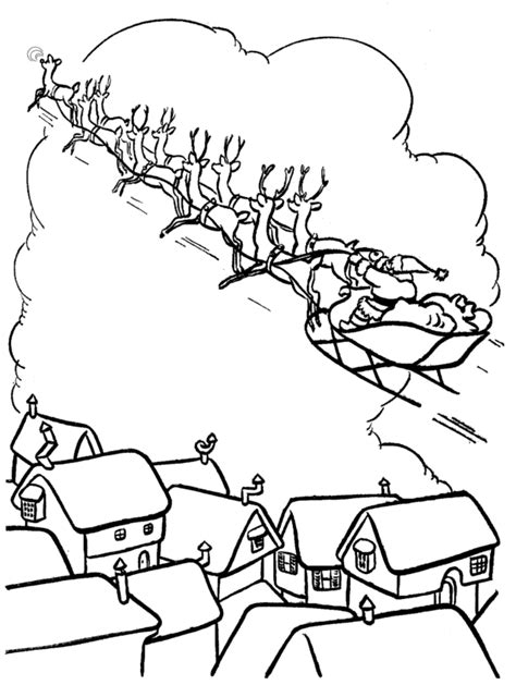 santa sleigh coloring pages az coloring pages