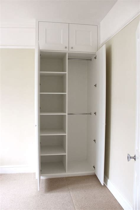 wardrobes alcove and shelves on