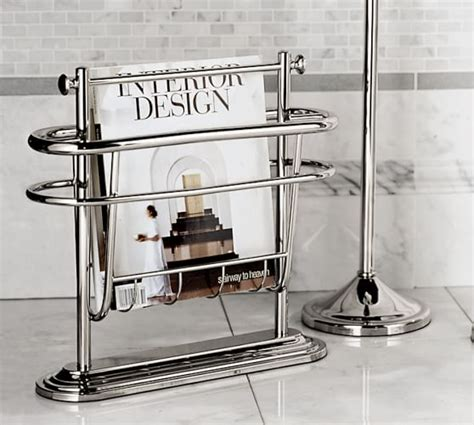 mercer floor magazine rack pottery barn