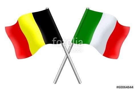 quot drapeaux duo belgique italie quot photo libre de droits sur