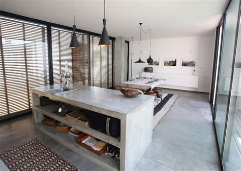 concrete kitchen design go beyond the common aesthetics with concrete kitchen islands
