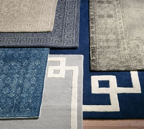 Hotel Rugs by Hotel Bordered Rug Gray Pottery Barn