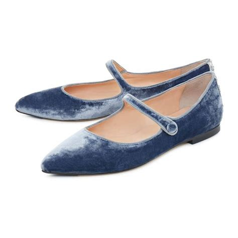 Flatshoes Velvet powder blue flat shoes made with velvet with matching sock moltrasio