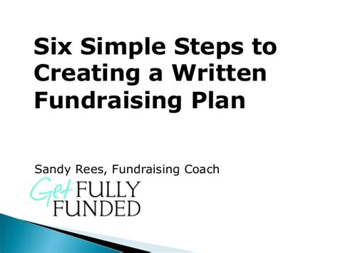 fund development plan template 6 simple steps to creating a written fundraising plan