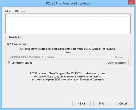 bios file from your playstation 2 console pcsx2 1 4 0 1 5 0 build 3033 nightly