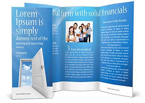 door flyer template opened door brochure template design id 0000000933