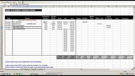 free excel accounting template small business and accounts
