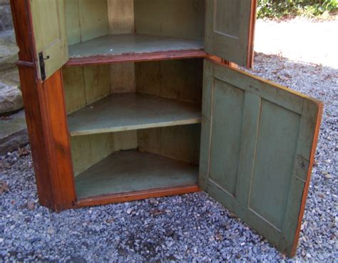 antique corner for sale early american two piece corner cupboard c1790 for sale