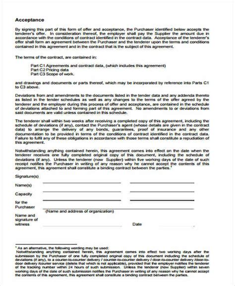 supplier quality agreement template supply contract templates best resumes