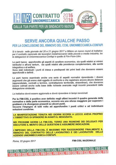 ccnl agidae scuola 2016 2018 14 info ccnl unionmeccanica 2016 2018 fim cisl romagna