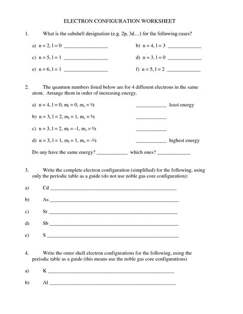 electron configuration worksheet answers 11 best images of 3d views worksheet 3d shapes worksheets grade 1 cone net cut out and