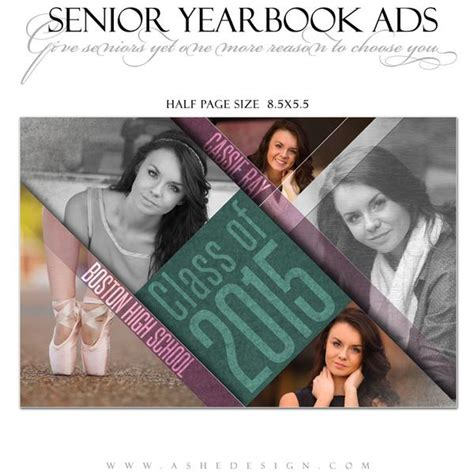 Senior Yearbook Ads For Photoshop Angled Ashedesign Senior Yearbook Ad Templates Free