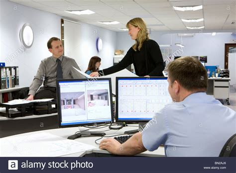 design engineer jobs dorset cad designers and architects working in office stock photo
