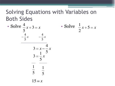 Equations With Variables On Both Sides Worksheet by Solving Equations With Variables On Both Sides Worksheet