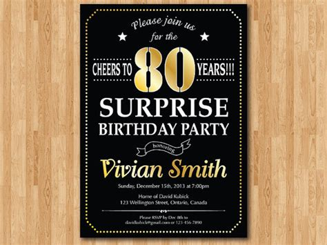 Surprise Th  Ee  Birthday Ee   Party Invitations Dolanpedia