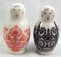 Salt And Pepper Babushka L by Nesting Dolls On 212 Pins