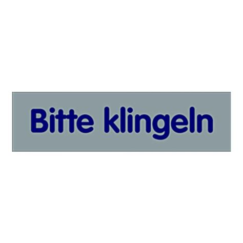 Kunststoff Aufkleber Bestellen by T 252 Rhinweisschild Quot Bitte Klingeln Quot Kunststoff Selbstklebend