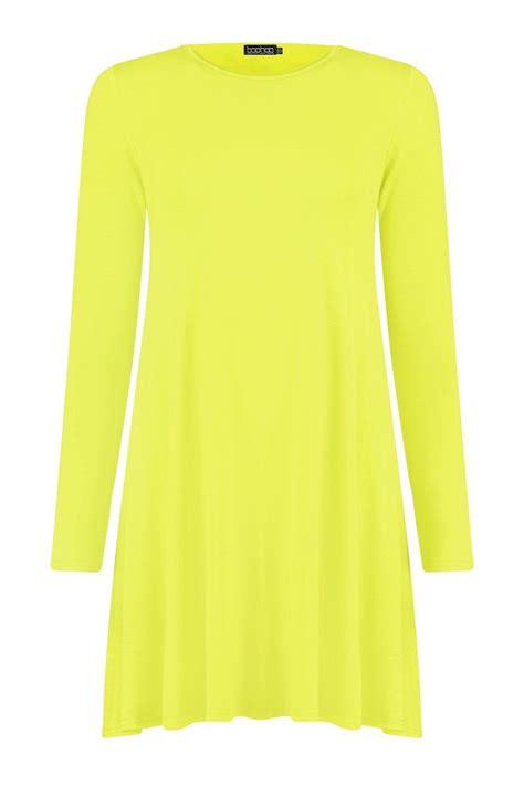 womens swing dress boohoo womens april long sleeve swing dress ebay
