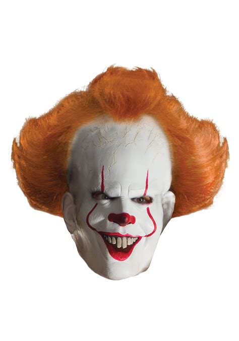 It Pennywise Clown Mask Costume it pennywise deluxe mask for adults