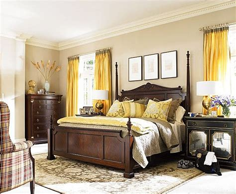 yellow and brown bedroom 25 best ideas about dark wood furniture on pinterest