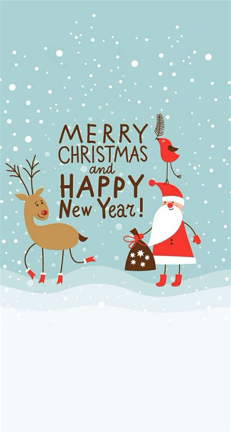 merry christmas happy  year iphone wallpaper christmas newyear iphone wallpaper