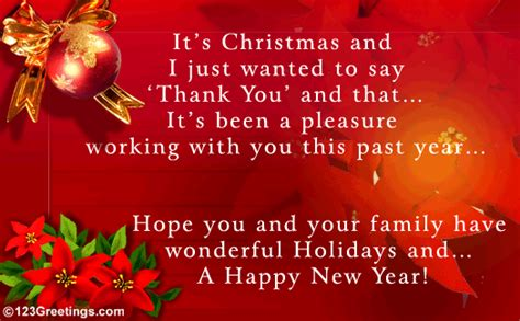 work related christmas message free holiday thank you