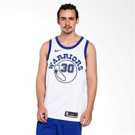 Produk Baru Jersey Kostum Basket Nba Golden State Warriors Sby0710 jual nike basketball stephen curry golden state warriors swingmen jersey kaos basket pria