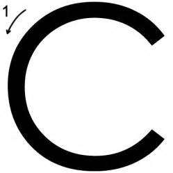 letter c printing worksheet both cases trace 3 print 3