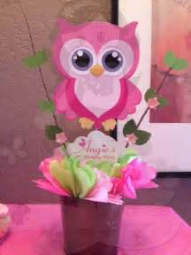 owl baby shower centerpieces pink owl centerpiece baby shower oakley