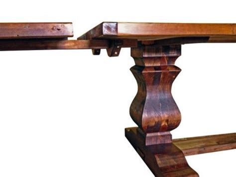 reclaimed wood trestle extension dining table