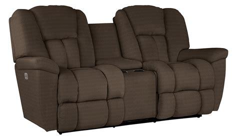 la z boy maverick sofa maverick powerreclinexrw full reclining loveseat w console